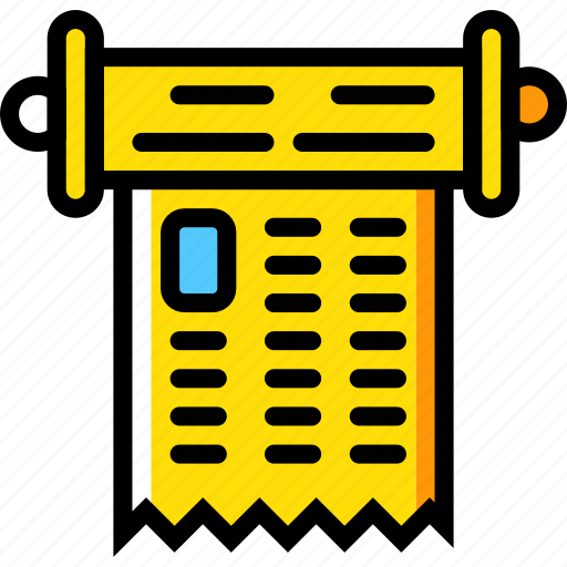 education, knowledge, learning, scroll, study icon