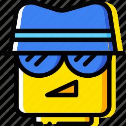 agent, emoji, emoticon, face icon