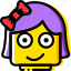 emoji, emoticon, face, girl icon