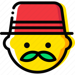 bussinessman, emoji, emoticon, face icon