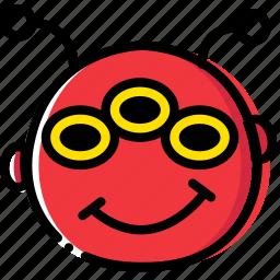 alien, emoji, emoticon, face icon