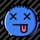emoticon, emoji, dead, face