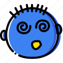 dizzy, emoji, emoticon, face icon