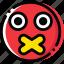 emoji, emoticon, face, secret icon