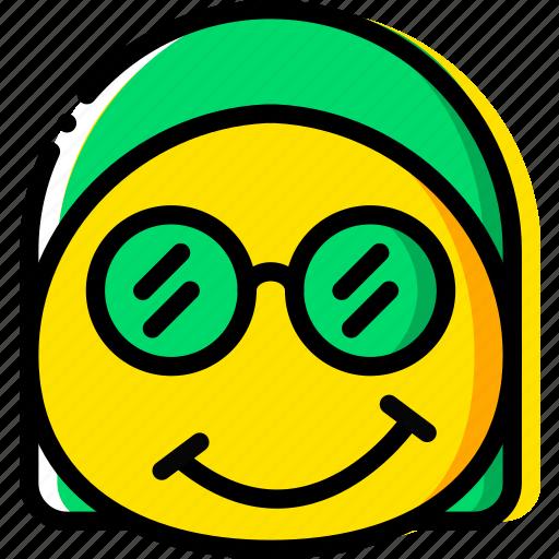 emoji, emoticon, face, nerdy icon