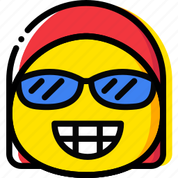 emoji, emoticon, face, smug icon