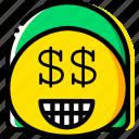emoji, emoticon, face, money