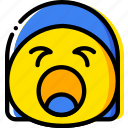 emoji, emoticon, face, screaming icon