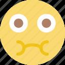 emoji, emoticon, face, sick