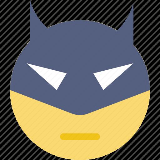 emoji, emoticon, face, superhero icon