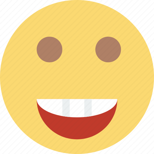 emoji, emoticon, face, joyful icon