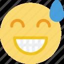 emoji, emoticon, face, relieved