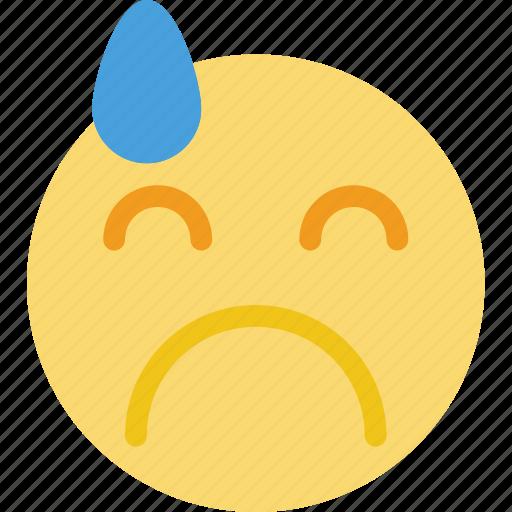 emoji, emoticon, face, sad icon