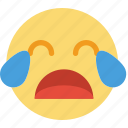emoticon, emoji, crying, face
