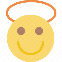 angel, emoji, emoticon, face icon