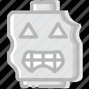 emoji, emoticon, face, zombie