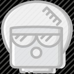 afro, emoji, emoticon, face icon