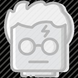 emoji, emoticon, face, harry, potter icon
