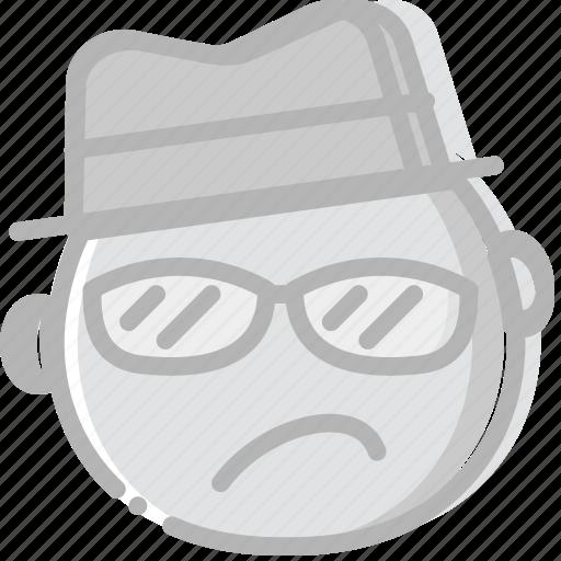 emoji, emoticon, face, secret, top icon