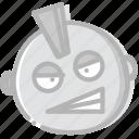 emoji, emoticon, face, punkist icon