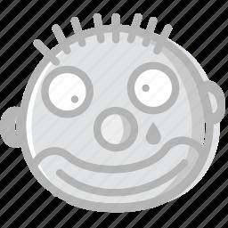 clown, emoji, emoticon, face icon