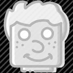 emoji, emoticon, face, goofy icon