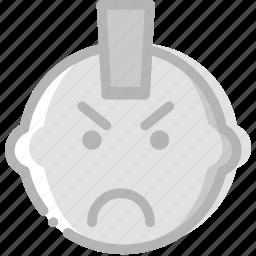 emoji, emoticon, face, punk icon