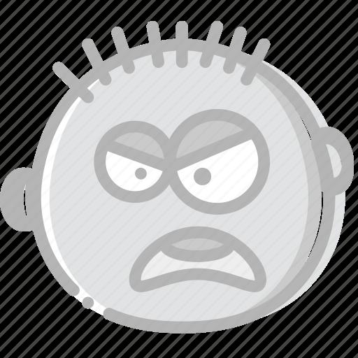 Emoticon, emoji, yelling, face icon