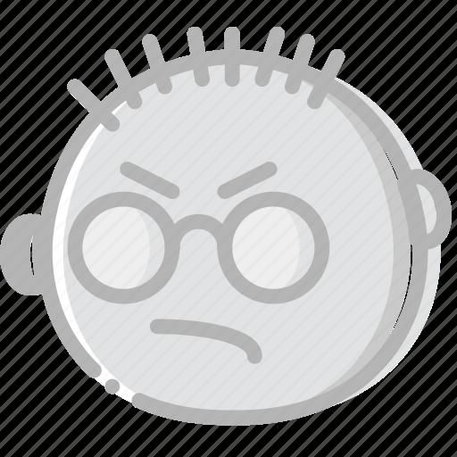 emoji, emoticon, face, mean icon