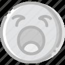 emoji, emoticon, face, yawning