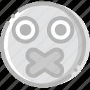 emoji, emoticon, face, secret