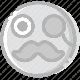 emoji, emoticon, face, gentleman icon
