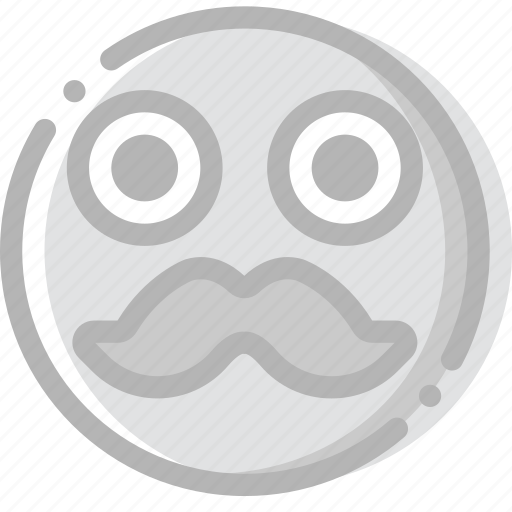 emoji, emoticon, face, hipster icon