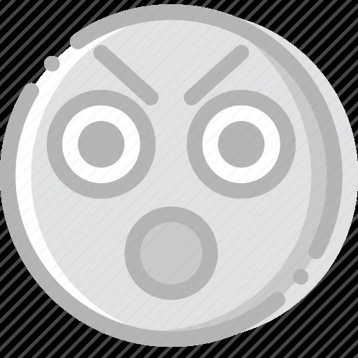 boo, emoji, emoticon, face icon