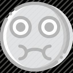 emoji, emoticon, face, sick icon
