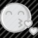 emoji, emoticon, face, kiss, lovely