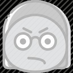 angry, emoji, emoticon, face icon
