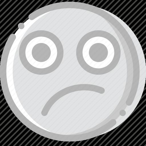 doubtful, emoji, emoticon, face icon