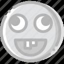 emoticon, goofy, emoji, face