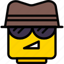 agent, emoji, emoticon, face icon