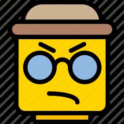emoji, emoticon, face, thug icon