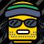 emoji, emoticon, face, smoked icon