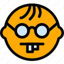 emoji, emoticon, face, geek icon