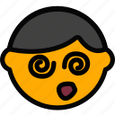 emoticon, emoji, dazed, face