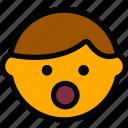 emoticon, emoji, shocked, face