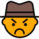 emoji, emoticon, face, gangster icon