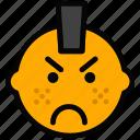 emoticon, emoji, punk, face