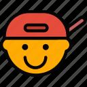emoticon, emoji, rapper, face
