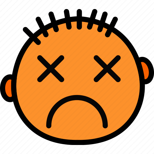 emoji, emoticon, face, stunned icon