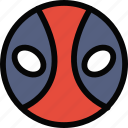 deadpool, emoji, emoticon, face icon